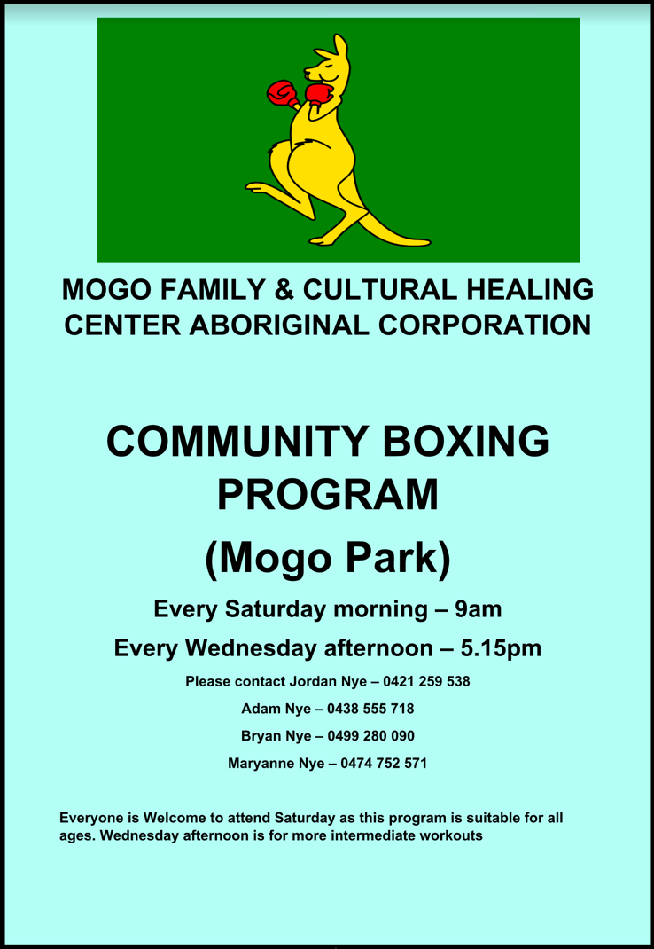 Mogo Community Boxing Program