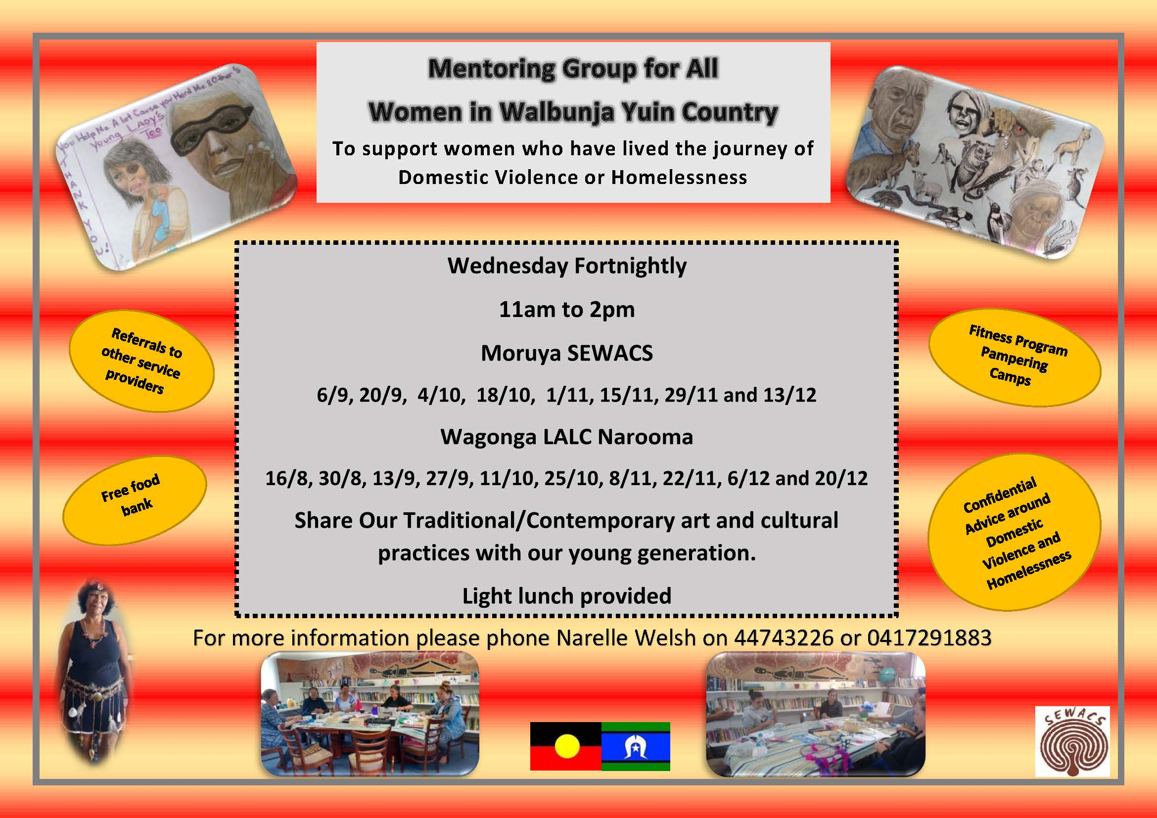 Mentoring Group For All Women In Walbunja Yuin Country